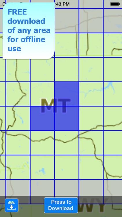 Aqua Map Montana Lakes GPS screenshot-5