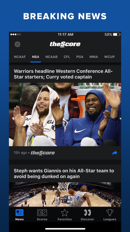 theScore: Sports News & Scores screenshot-4