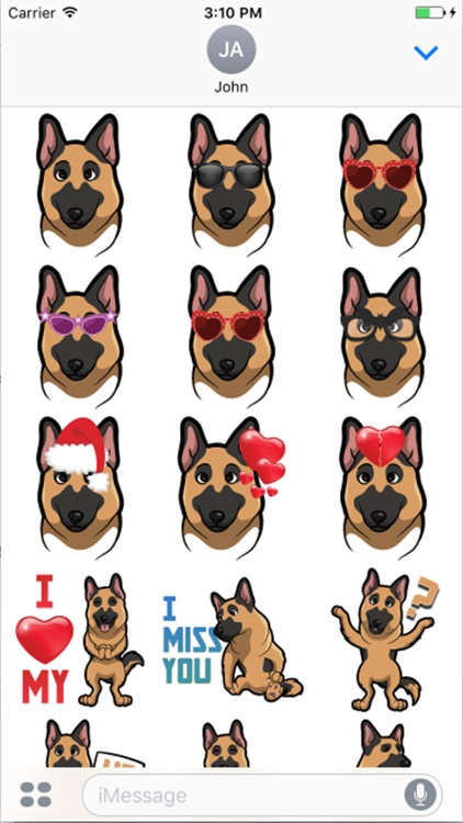 German shepherd Dog emojis screenshot-3