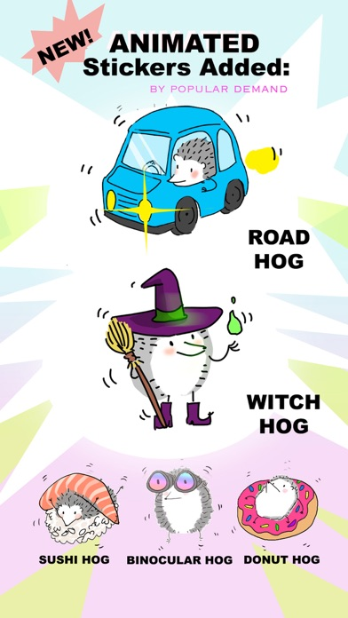 Mr. Hedgehog Animated Stickers