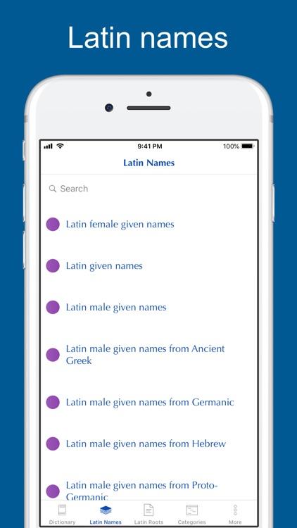 Latin Etymology Dictionary screenshot-3