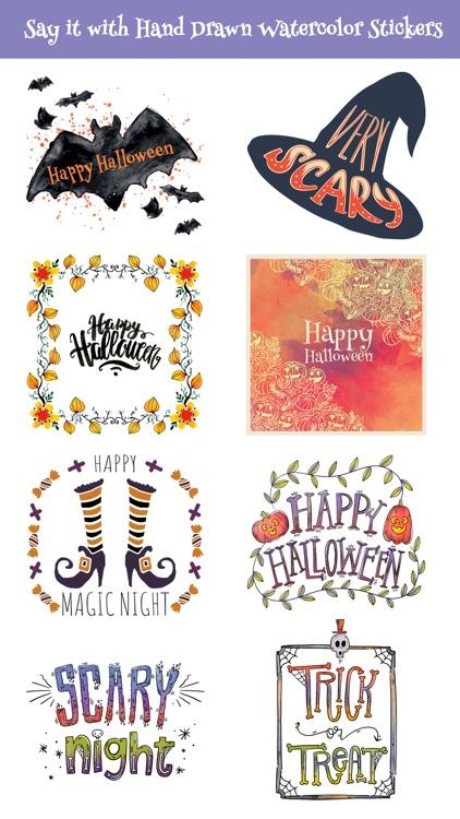 Beautiful Watercolor Halloween screenshot-3