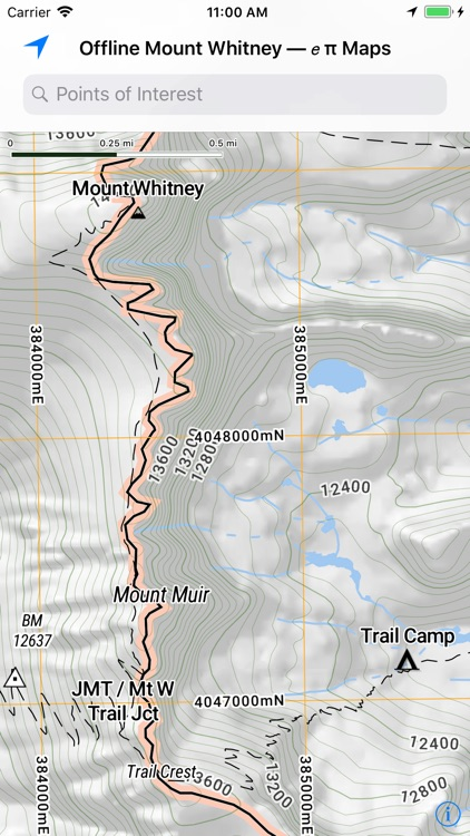 Offline Mount Whitney Map