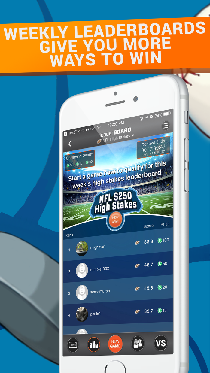 letsRUMBL Daily Fantasy Sports Screenshot