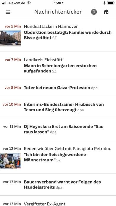 SZ.de Nachrichten SZ Скриншоты4