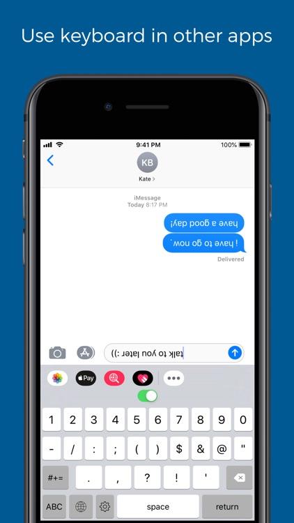 Upside down text keyboard screenshot-3