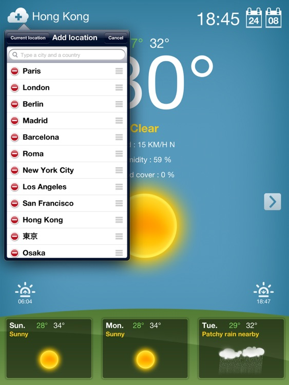 Weather for iPad Free screenshot-3