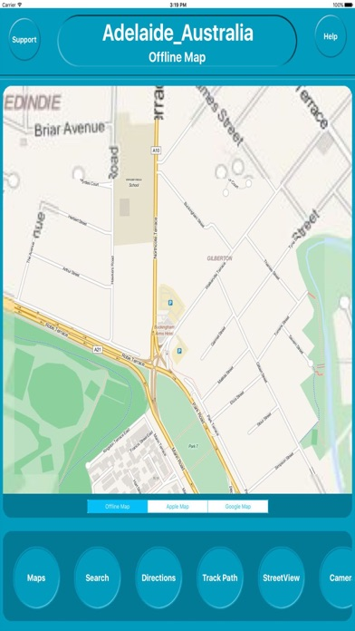 Adelaide Australia OfflineMap