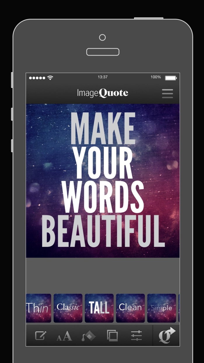 ImageQuote - add text captions to photos pictures Screenshot