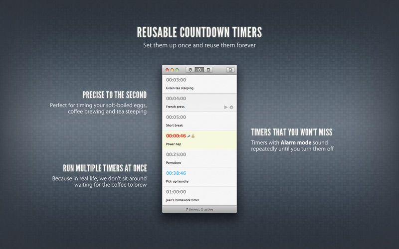 Due — Reminders, Countdown Timers Screenshot