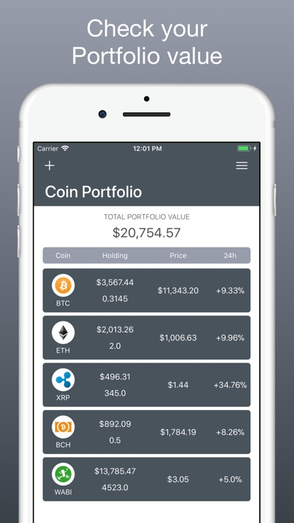 Coin Portfolio - Tracking screenshot-0