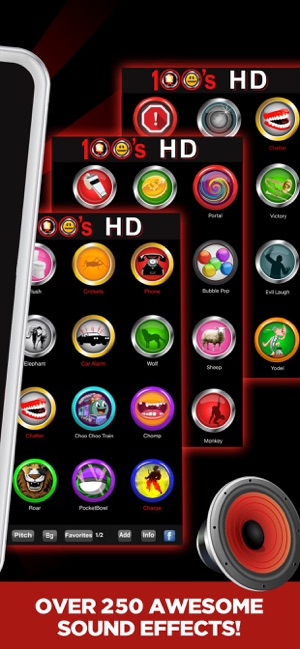 100 Buttons and Sound Effects on the App Store