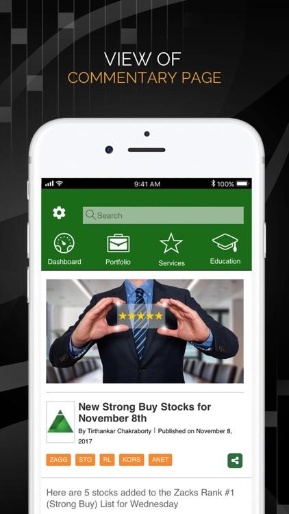 Zacks Mobile App screenshot-4