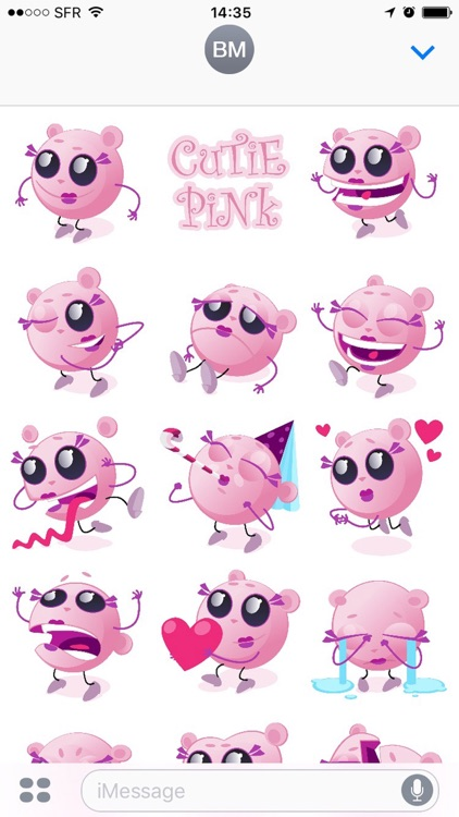 Cutie Pink - emoji stickers screenshot-1