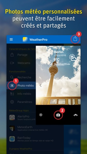 WeatherPro Capture d'écran