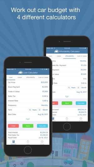 car loan budget calculator pro on the app store