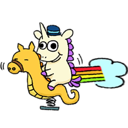 Crazy And Cute Unicorn Sticker