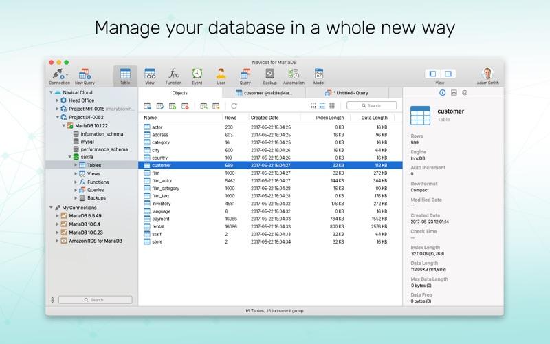 Navicat 12 for MariaDB Screenshots