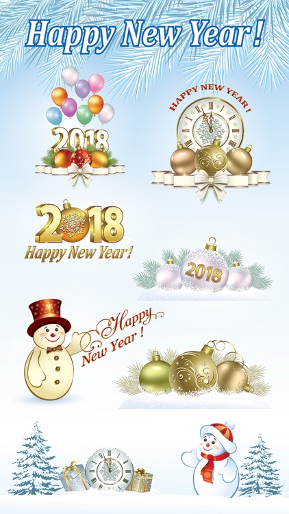 Happy New Year Stickers 2018 screenshot-2