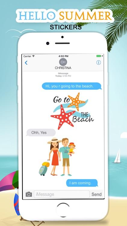 Hello Summer Stickers! screenshot-3