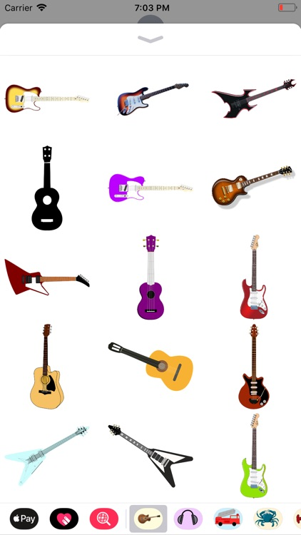 Groovy Guitar Stickers screenshot-5