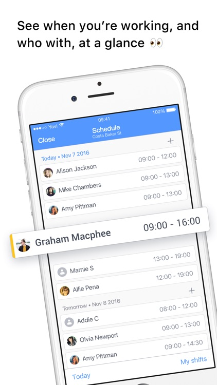 Yavi - Work Schedule and Chat