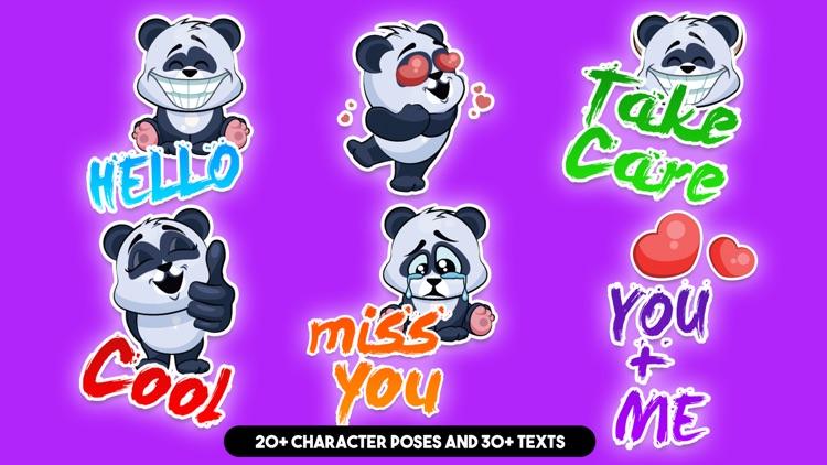 Cute Panda Sticker Pack!
