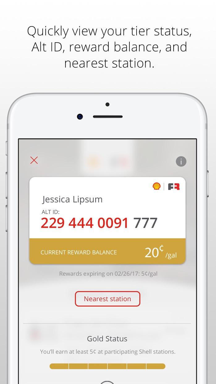 Fuel Rewards® program Screenshot