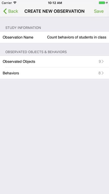 Behavior Observation Plus