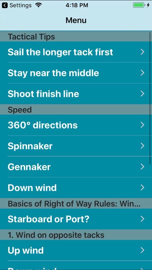 Tactical Sailing Tips App 截图