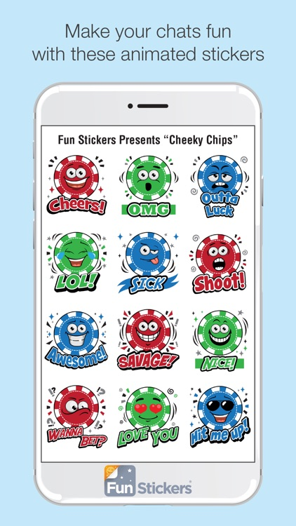 Cheeky Chips iSticker