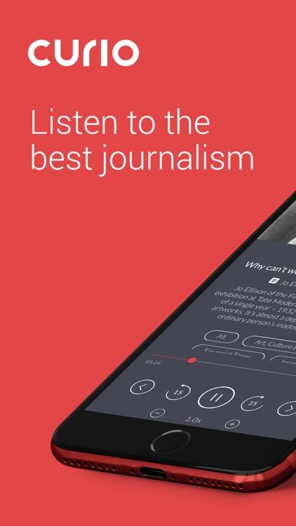 curio.io: top audio articles screenshot-0