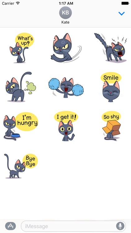 Lovely And Naughty Cat Sticker