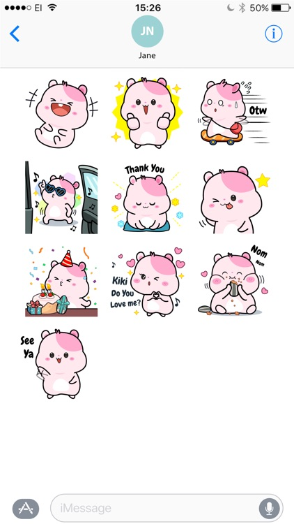 Kiki Hamster Stickers