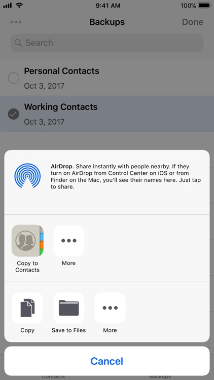 Contacts Backup and Transfer screenshot-4
