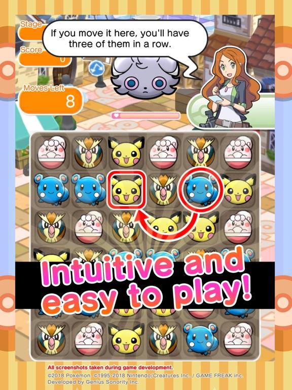 Pokémon Shuffle Mobile iPad app afbeelding 3