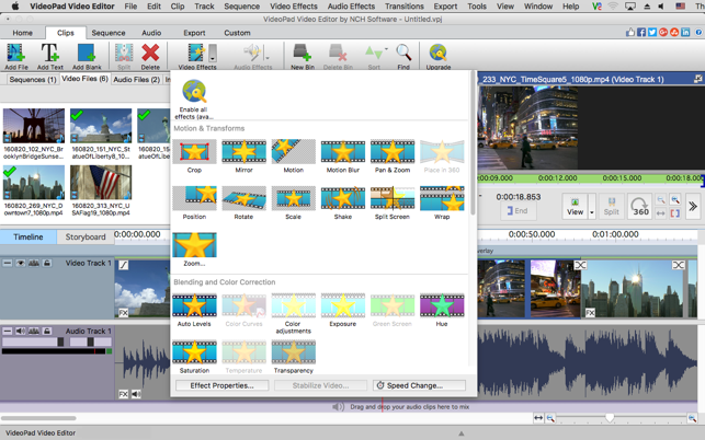 Top reasons to try VideoPad Video Editor