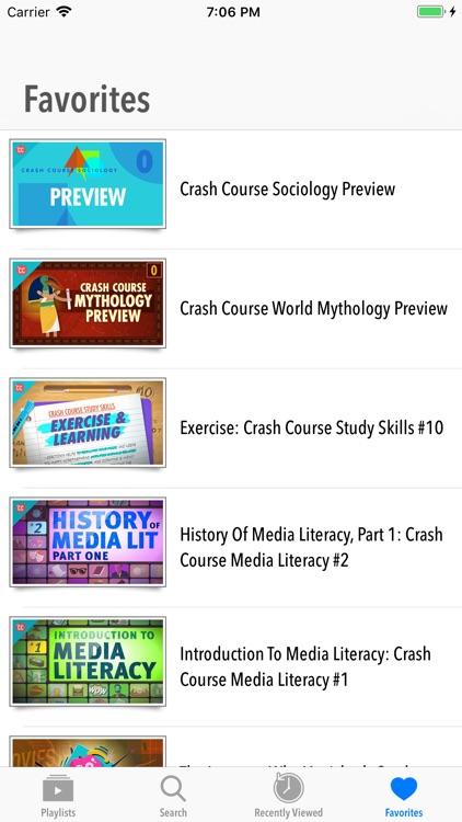 CrashCourse Video Series screenshot-4