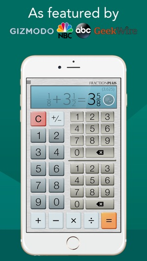 Fraction Calculator Plus #1 on the App Store