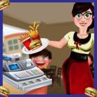 cajero de cafetería de comida icon