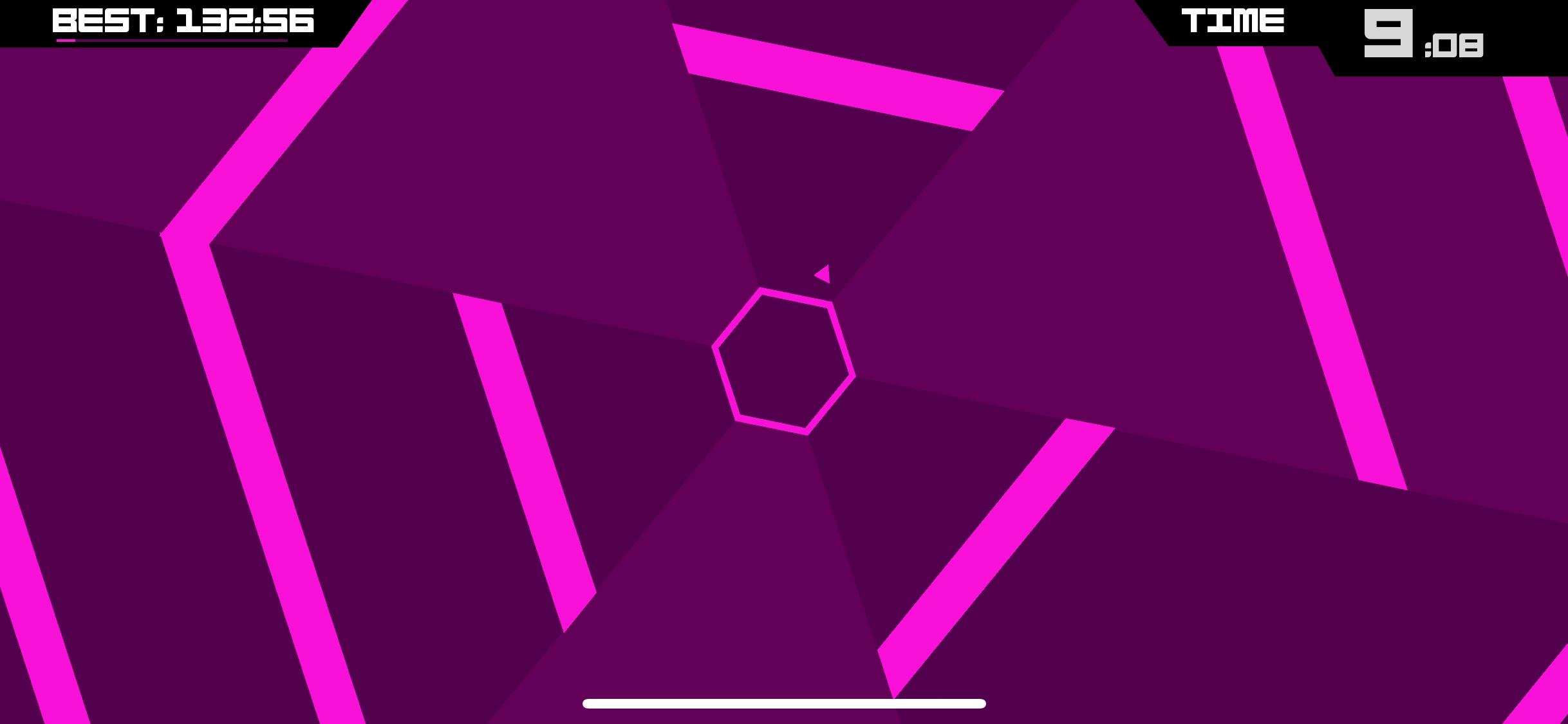 Screenshot do app Super Hexagon