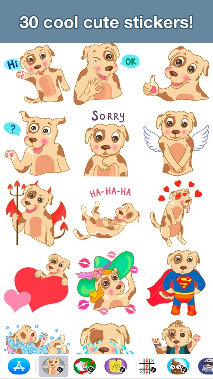 Dog - Cute stickers screenshot-1