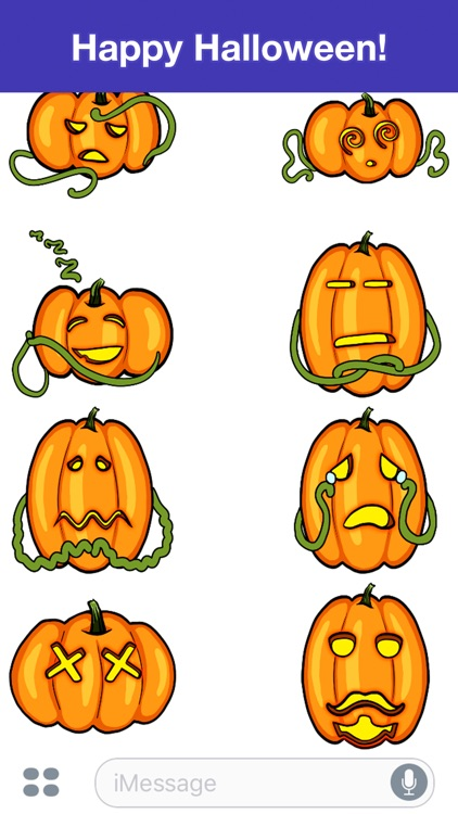 Pumpkins - Halloween stickers screenshot-4