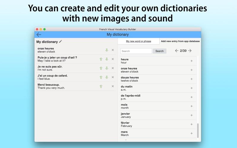 French Vocabulary Builder screenshot 5