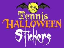 Tennis fans and players celebrate Halloween with stickers