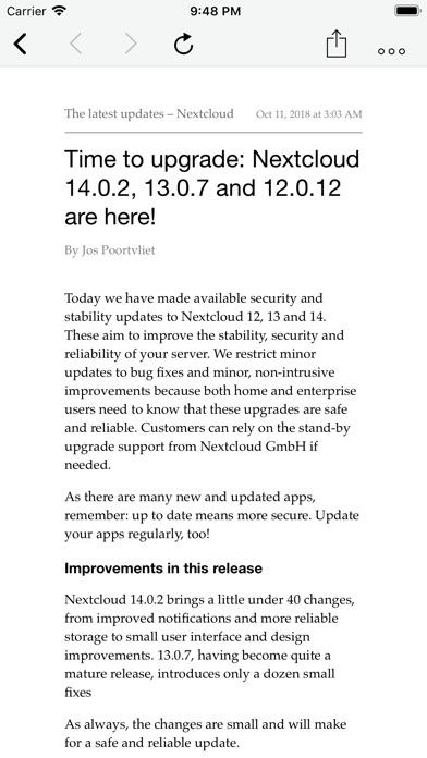CloudNews - Feed Reader screenshot1