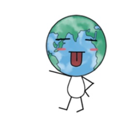 The Blue Earth Emoji Sticker