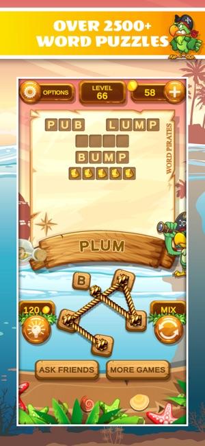 Word Pirates: Word Puzzle Game Screenshot