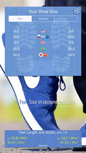Shoe Size Meter Foot Length