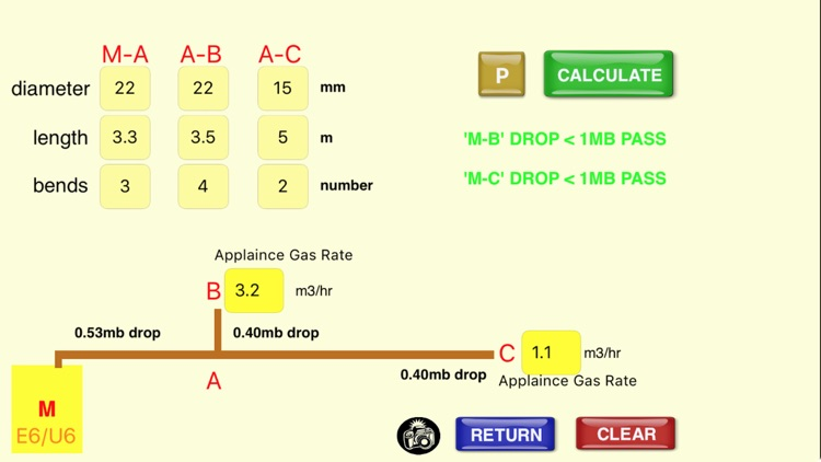 GB Gas Pipe Sizing Calculator